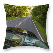 Drive To Vacation Throw Pillow
