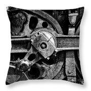 Drive Wheel - 190 - Bw Throw Pillow