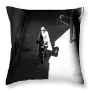 Driveby Encounter  Throw Pillow