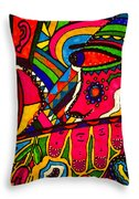 Driven To Abstraction - Parts And Pieces Throw Pillow