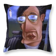 Driving 1995 Throw Pillow by Larry Preston