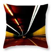 Driving In Boston Throw Pillow