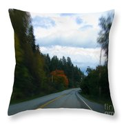 Driving Throw Pillow