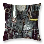 Driving Steam Throw Pillow by MJ Olsen
