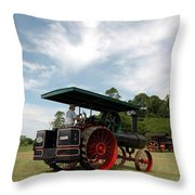 Driving The Engine Throw Pillow