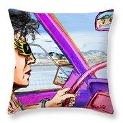 Driving Through Arizona Throw Pillow