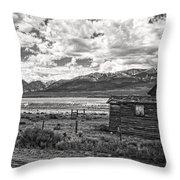 Driving Through Colorado Throw Pillow