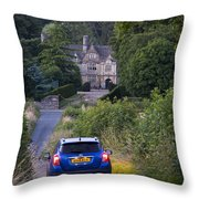 Driving To Manor House Throw Pillow