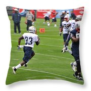 Driving Up The Middle Throw Pillow