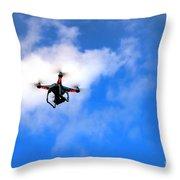 Droning Throw Pillow