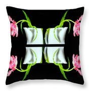Droopy Tulips Throw Pillow