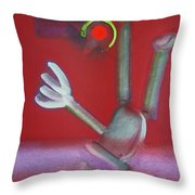 Falling Figure Throw Pillow