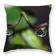 Drop Pair Throw Pillow