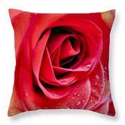 Droplets In Red Throw Pillow