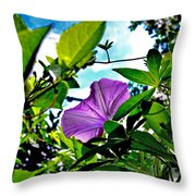 Droplets On Petal Throw Pillow