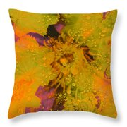Droplets Two Throw Pillow