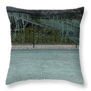 Drops In The Fountain Throw Pillow