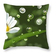 Drops Of Spring Throw Pillow