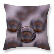Drops Of Water II Throw Pillow