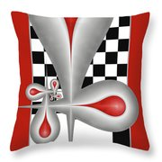 Drops On A Chess Board Throw Pillow
