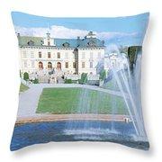 Drottningholm Palace, Stockholm, Sweden Throw Pillow