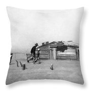Drought Dust Storm, 1936 Throw Pillow