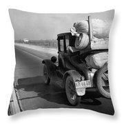 Drought Refugee, 1936 Throw Pillow