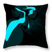 Drowning Girl Throw Pillow