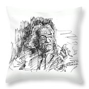 Drtero Agolli Albanian Writer Throw Pillow