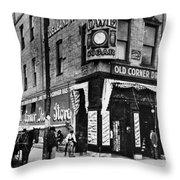 Drug Store, 1890s Throw Pillow