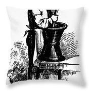 Druggist, 19th Century Throw Pillow