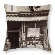 Drugstore, 1890 Throw Pillow