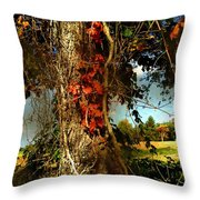 Druid Oak Throw Pillow
