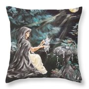 Druid's Meditation Throw Pillow