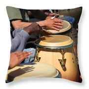 Drum Jammin In Golden Gate Park Throw Pillow