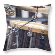Drum Kit Set Closeup Throw Pillow