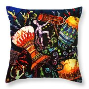Drumbeat Throw Pillow