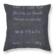 Wb Yeats -one Of Irelands  Greatest Poets Throw Pillow