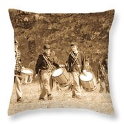 Drummer Boys Throw Pillow