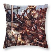 Drummer W. Ritchie Standing Throw Pillow