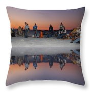 Drummers Circle Throw Pillow
