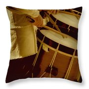 Drummers Throw Pillow