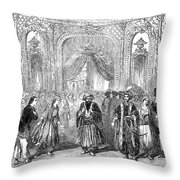 Drury Lane Theatre, 1854 Throw Pillow