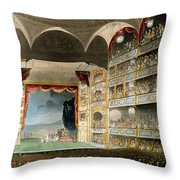Drury Lane Theater Throw Pillow
