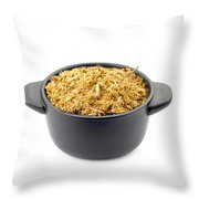 Dry Chamomile In A Black Cup Throw Pillow