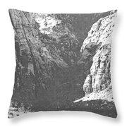 Dry Desert Waterfall Pencil Rendering Throw Pillow