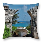 Dry Dock Throw Pillow