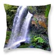 Dry Falls 2 In Western North Carolina Throw Pillow