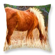 Dry Marsh Grasses Throw Pillow