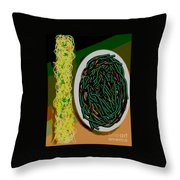 Dry Sauteed Stringbeans Throw Pillow
